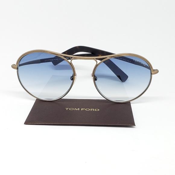 bea0707aff91 Tom Ford Sunglasses Round Gradient Blue Lens